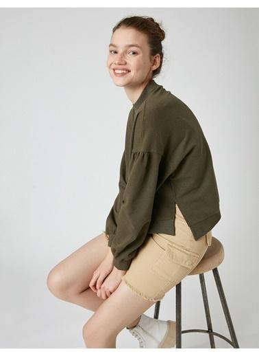 Koton Sweatshirt Yeşil